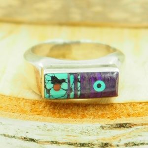 VTG_ Fernando Benally_Native American_Inlaid_Ring